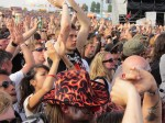 crowd during megadeth's performance at download festival 2012-01