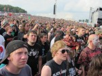 crowd during megadeth's performance at download festival 2012-02