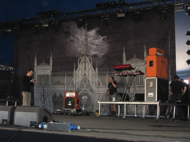 ghost live at download festival 2012 stage backdrop